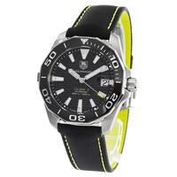 Tag Heuer Men's WAY201A.FC6361 'Aquaracer' Black Synthetic Watch