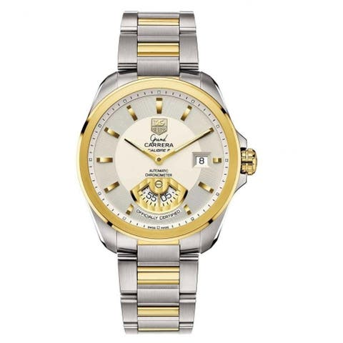 Tag Heuer Men's WAV515B.BD0903 'Grand Carrera' 18kt Yellow Gold Automatic Two-Tone Stainless Steel and Gold Watch