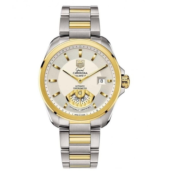 68592a981f3 Shop Tag Heuer Men's WAV515B.BD0903 'Grand Carrera' 18kt Yellow Gold  Automatic Two-Tone Stainless Steel and Gold Watch - Free Shipping Today -  Overstock - ...