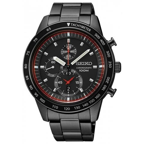 d427df8b6 Seiko Men's SNDD89 'Chronograph' Chronograph Black Stainless Steel Watch