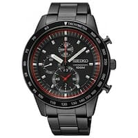 Seiko Men's SNDD89 'Chronograph' Chronograph Black Stainless Steel Watch