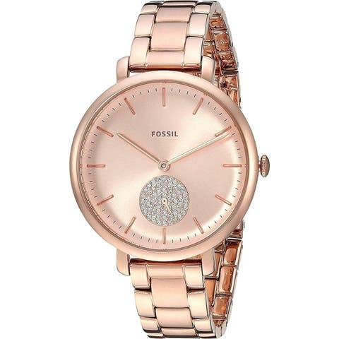 Fossil Women's ES4438 'Jacqueline' Crystal Rose-Tone Stainless Steel Watch