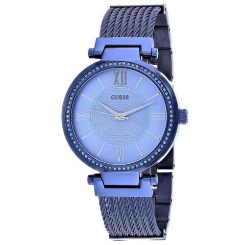 Guess Women's W0638L3 'Soho' Blue Stainless Steel Watch