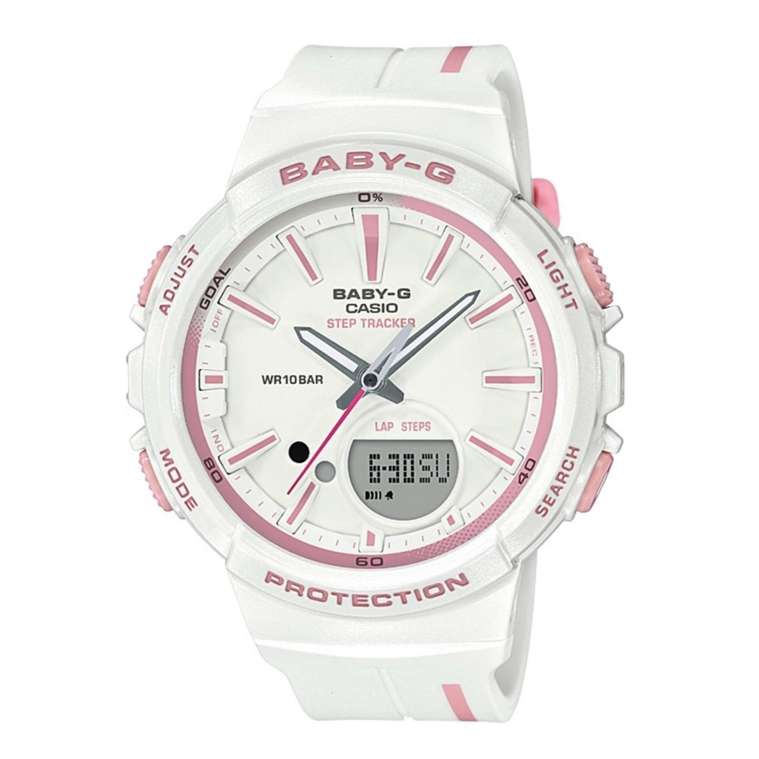 453feafbf Shop Casio Women's BGS100RT-7A 'Baby G' White Resin Watch - Free Shipping  Today - Overstock - 27623334
