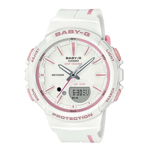 Casio Women's BGS100RT-7A 'Baby G' White Resin Watch