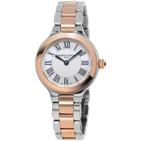 Frederique Constant Women's FC-200M1ER32B 'Classic' Two-Tone Stainless Steel Watch