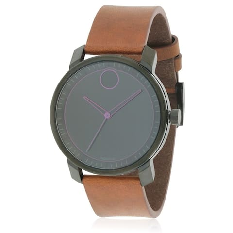 Movado Women's 3600488 'Bold' Brown Leather Watch