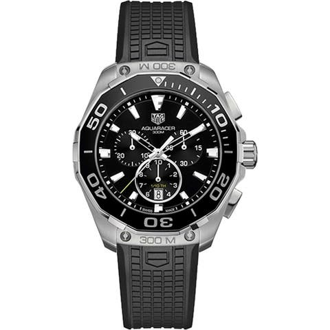 Tag Heuer Men's CAY111A.FT6041 'Aquaracer' Chronograph Black Rubber Watch