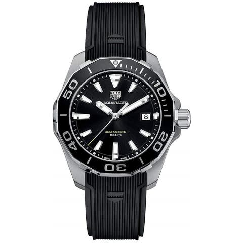 Tag Heuer Men's WAY111A.FT6151 'Aquaracer' Black Rubber Watch