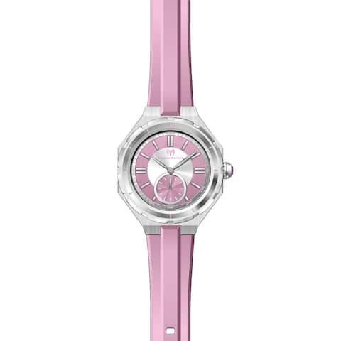 TechnoMarine Women's TM-118003 Pink Silicone Watch
