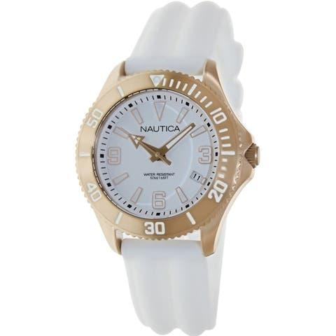 Nautica Unisex N14648M White Silicone Watch