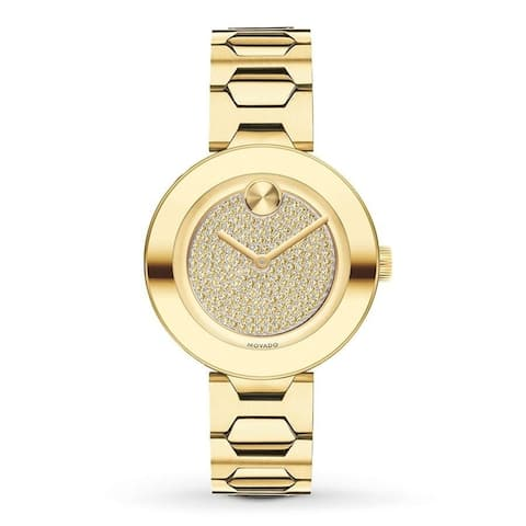 Movado Women's 3600492 'Bold' Crystal Gold-Tone Stainless Steel Watch