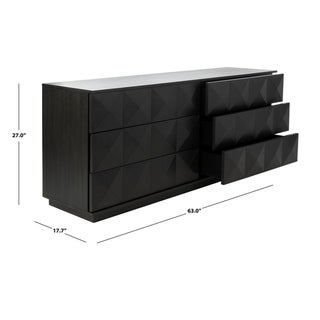 Safavieh Couture Patty Contemporary 6-drawer Black Dresser