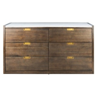Safavieh Couture Adeline 6-drawer Dark Chocolate Brown Dresser