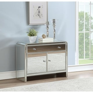 "Somette Two Door One Drawer Cabinet, Champagne Reflections - 38""L x 16""W x 29.5""H"