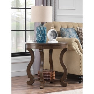 """Somette Orchard Park Round End Table, Orchard Brown - 24""""L x 24""""W x 24""""H"""
