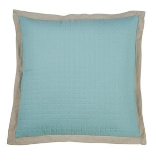 Saro Lifestyle Cotton Quilted Throw Pillow