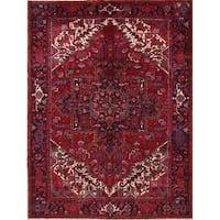 "Vintage Heriz Geometric Handmade Wool Persian Oriental Area Rug - 10'8"" x 8'0"""