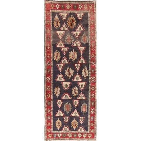 "One of a Kind Ardebil Geometric Handmade Wool Persian Oriental Rug - 9'5"" x 3'6"" Runner"