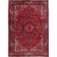 "Vintage Heriz Geometric Handmade Wool Persian Oriental Area Rug - 11'2"" x 8'0"""