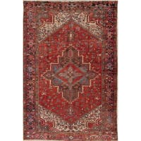 "Antique Heriz Geometric Handmade Wool Persian Oriental Area Rug - 11'4"" x 7'6"""