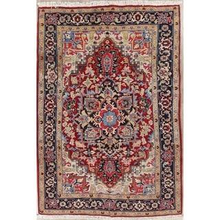 "Heriz Serapi Geometric Handmade Wool Persian Oriental Area Rug - 9'8"" x 6'5"""