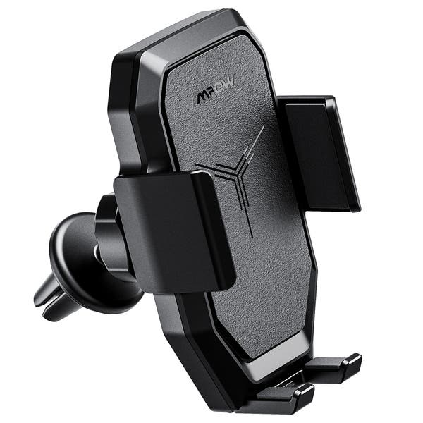 Compatible//w iPhone 11 Series//X//XR Dashboard Air Vent Car Phone Mount Auto-Clamping Car Wireless Charger Galaxy Note10//S10//S20 with Car Charger Mpow Car Wireless Charger Qi Car Charger 10//7.5//5 W