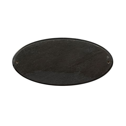 "QualArc Rockport Oval in ""Slate Stone Color"" Solid Granite Address Plaque"