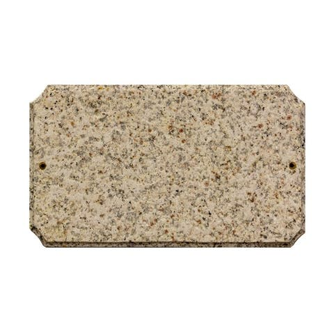 "QualArc Executive Cut Corner Rectangle ""Autumn Leaf Natural Stone Color"" Solid Granite Address Plaque"