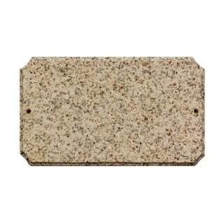 """QualArc Executive Cut Corner Rectangle """"Autumn Leaf Natural Stone Color"""" Solid Granite Address Plaque"""