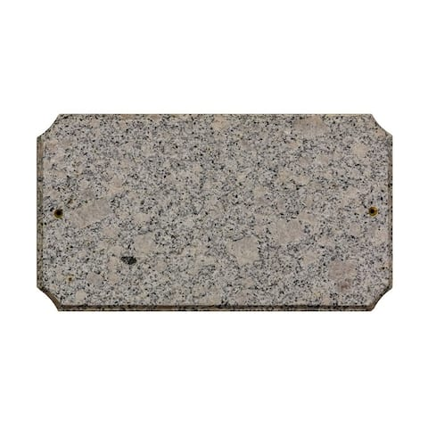 "QualArc Executive Cut Corner Rectangle ""White Granite Natural Stone Color"" Solid Granite Address Plaque"
