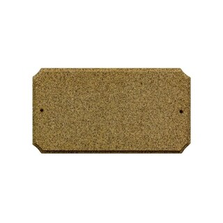 "QualArc Executive Cut Corner Rectangle ""Sand Granite Polished Stone Color"" Solid Granite Address Plaque"