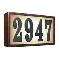 "QualArc Serrano Standard Lighted Address Plaque ""Do It Yourself Kit"" (Bronze Frame Color)"