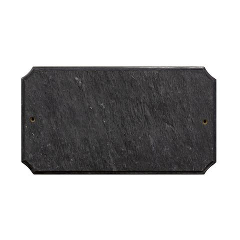 "QualArc Executive Cut Corner Rectangle ""Slate Stone Color"" Solid Granite Address Plaque"