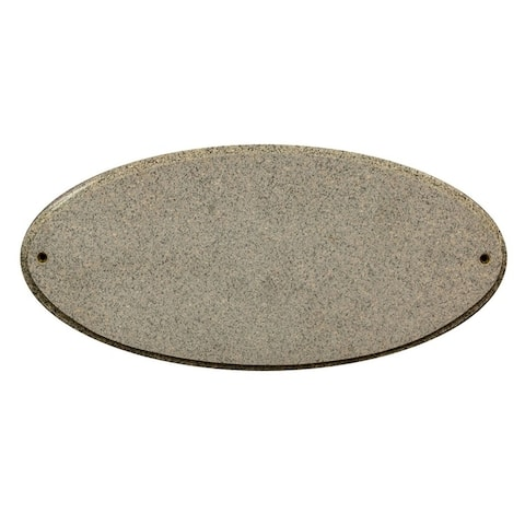 "QualArc Rockport Oval in ""Sand Granite Natural Stone Color"" Solid Granite Address Plaque"