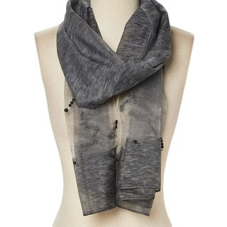 Link to Viscose Sheer-Accent Embellished Pearl Scarf for Woman - Large Similar Items in Scarves & Wraps