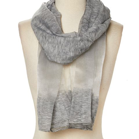 Viscose Sheer-Accent Solid Scarf for Woman - Large