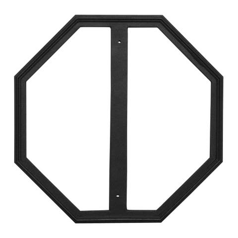 "QualArc 24"" x 24"" Cast Aluminum Stop Sign Frame - Black"