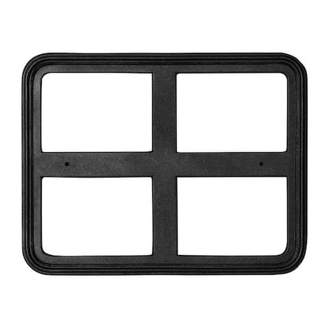 "QualArc 18"" x 12"" Cast Aluminum Rectangle Sign Frame - Black"