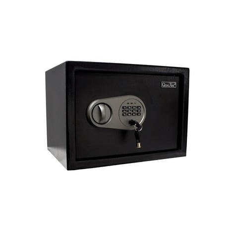 QualArc Solid Steel Personal Safe in Black Powder Coated Finish - 0.5 Cu Ft
