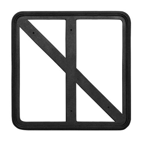 "QualArc 18"" x 18"" Cast Aluminum Square Sign Frame - Black"