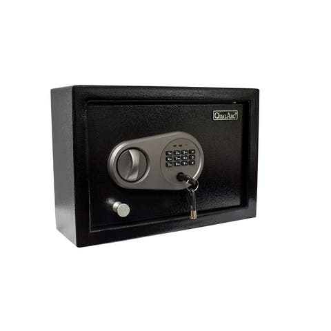 QualArc Solid Steel Drawer Safe in Black Powder Coated Finish