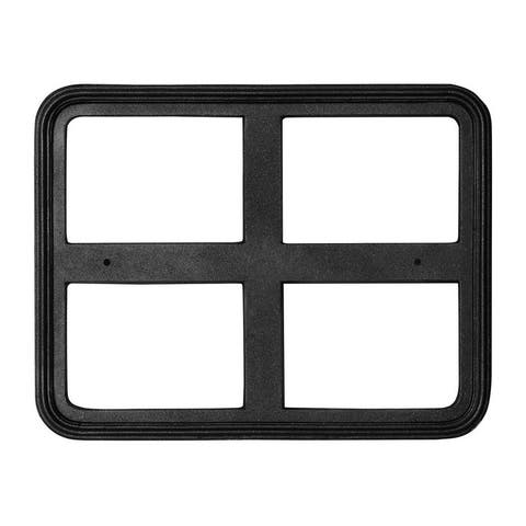 "QualArc 24"" x 18"" Cast Aluminum Rectangle Sign Frame - Black"
