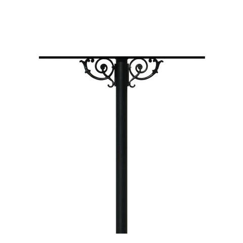 QualArc The Hanford Quad Mailbox Post System with Scroll Supports No Decorative Base or Mailbox Support Braces
