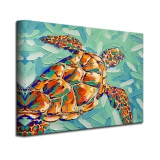 Carnival Tortuga' Coastal Wildlife Canvas Wall Art