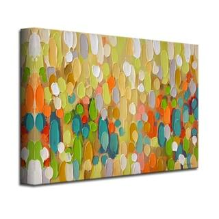 'Color Map' Wrapped Canvas Coastal Abstract Wall Art