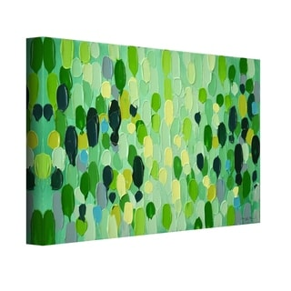 Copper Grove Mixed Green Abstract Canvas Wall Art
