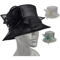 Designer Straw Sinamay church hat for Weddings Kentucky Derby