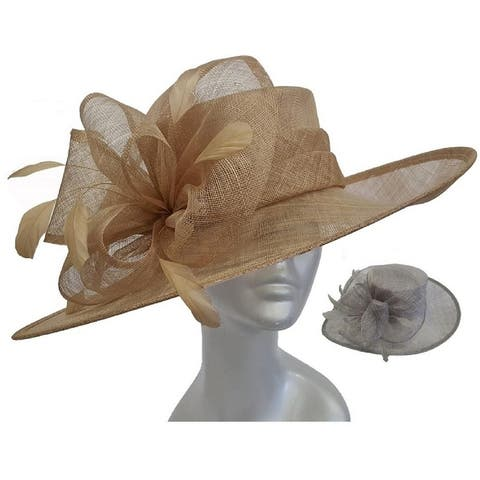 34ebcfe355d Women s Large Brim Straw Sinamay Bridal hat