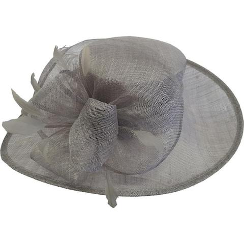 f427fcf5ba612 Women s Large Brim Straw Sinamay Bridal hat